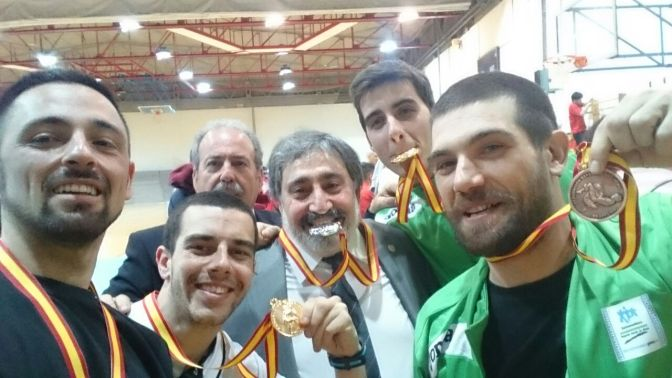 Equipo de Extremadura en la Copa de España de Sambo y Grappling.